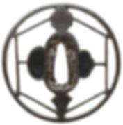 六角組文透図鐔 無銘 尾張