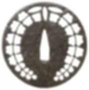 藤紋透図鐔 無銘 甲冑師