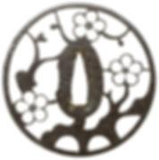 梅樹透図鐔 無銘 京透