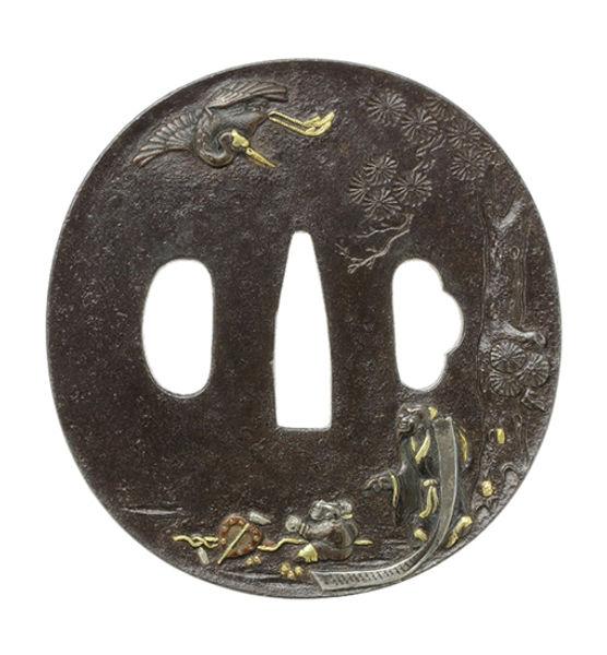 林和靖図鐔 銘 弘親