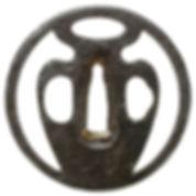 壺透図鐔 無銘 金山