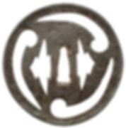 二蓋菱三巴透図鐔 無銘 古甲冑師