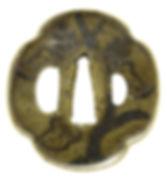 桐図鐔 銘 久法