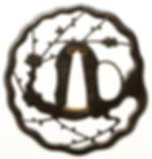 梅樹透図鐔 銘 行年八十一才忠重作
