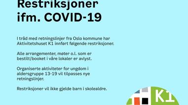 Restriksjoner ifm. COVID-19