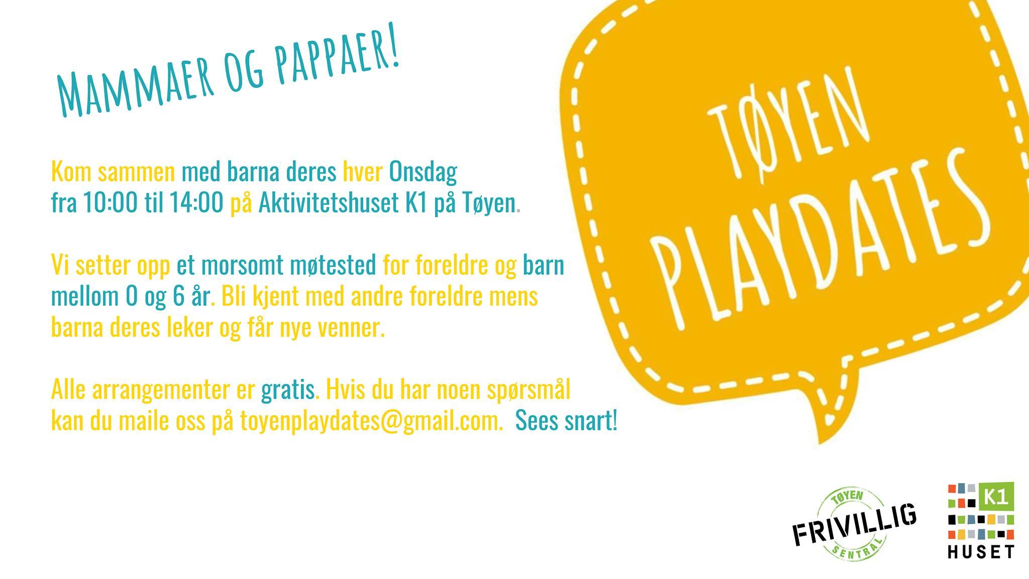 Tøyen Playdates for foreldre og barn