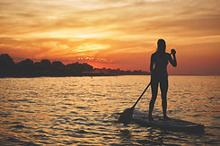 woman on a paddle board in key west