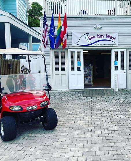 entryway of Sea, Key West watersports store in Key West Florida