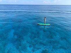 woman on a paddle board in key west, florida