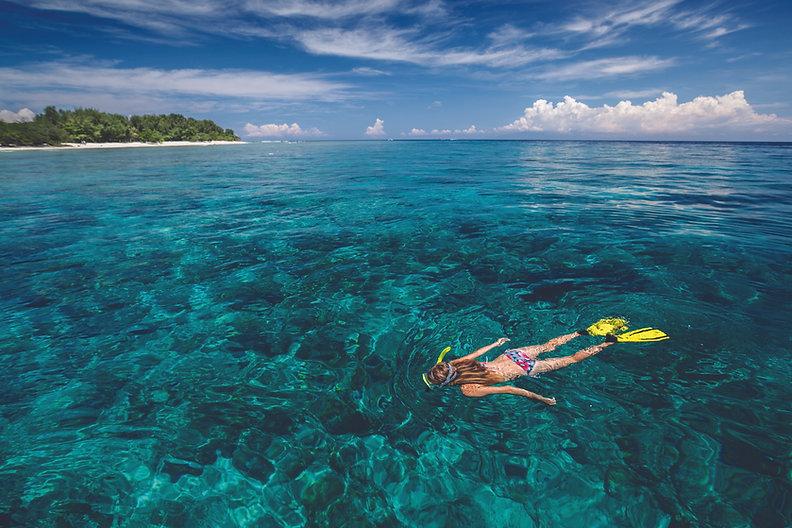 woman snorkeling in key west