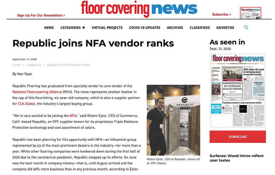 Republic joins NFA vendor ranks