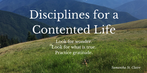 Disciplines for a Contented Life - Post by Samantha St. Claire at The Captivating Quill