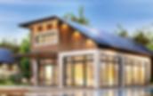 Casa-moderna-com-painel-de-energia-solar