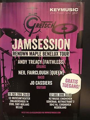 Andy Treacey (Drummer of Faithless - Neil Fairclough (Vassplayer for Queen - Jo Cassiers (Gitarist Stan Van Samang)