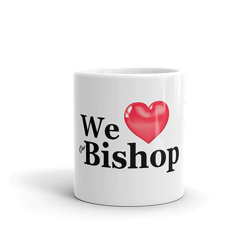 Love Bishop mug