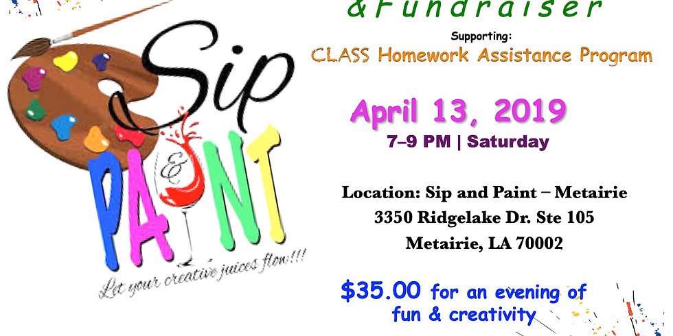 Sip and Paint Party Fundraiser (1)