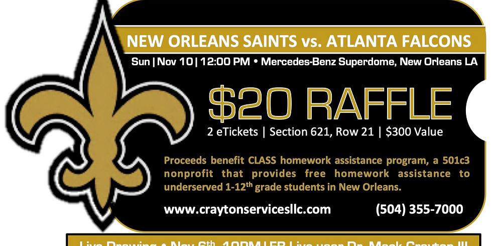 Raffle: New Orleans Saints vs Atlanta Falcons