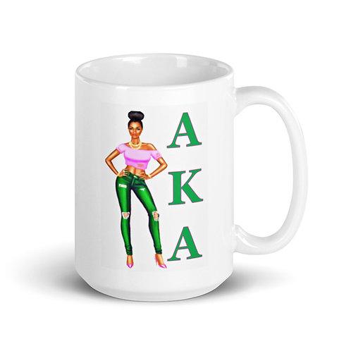AKA Girl 15 oz mug