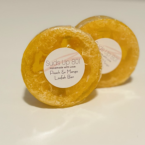 Peach/Mango Loofa Body Scrub Bar
