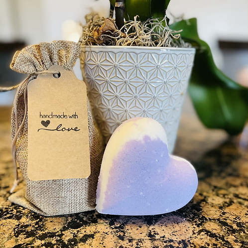 Heart coconut Bath Bomb
