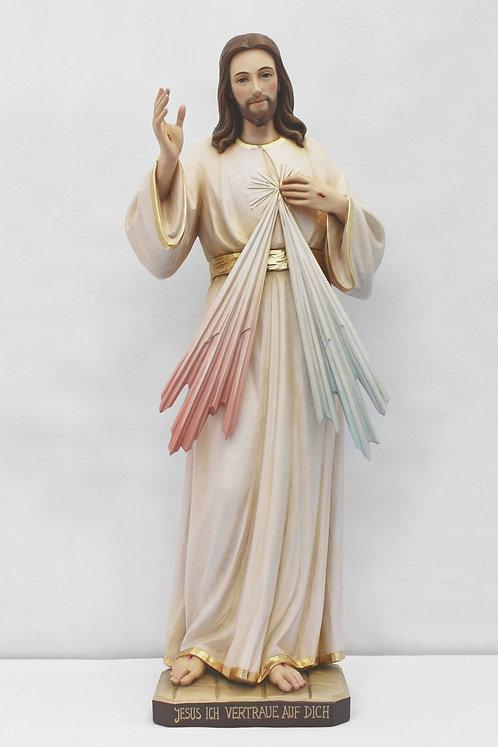 Barmherziger Jesus  30 cm. color, mit kurzen Stahlen