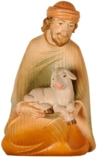 Hirt kniend mit Schaf,