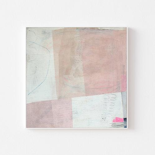 Francesca Iannaccone framed abstract painting
