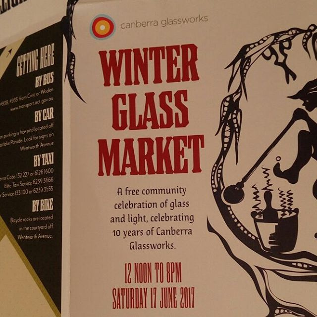 I have a stall at the winter glass markets this year
