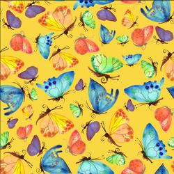 Flitting Butterflies on gold