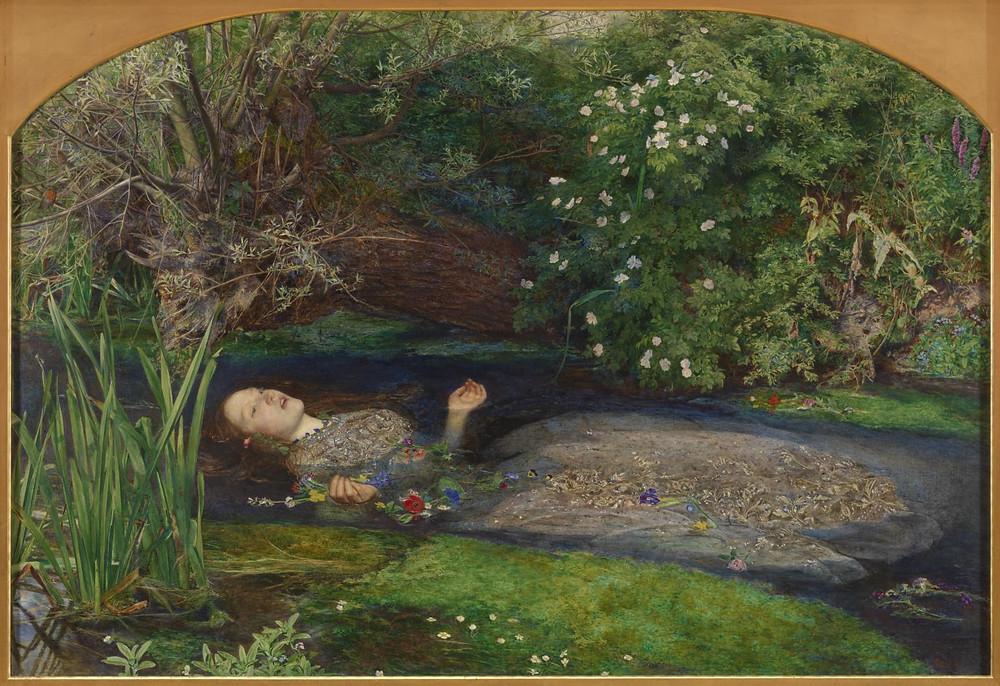 Ophelia by John Everett Millais, 1851-1852