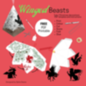 Winged Beasts -  green and red.png