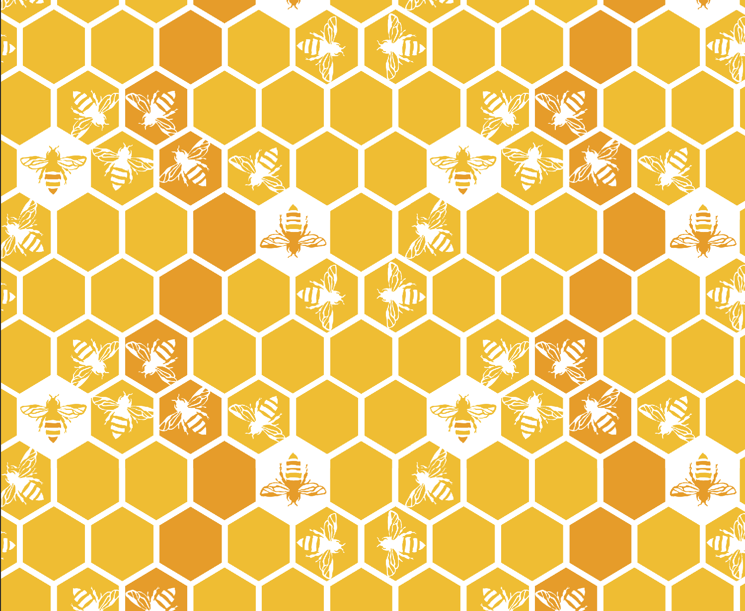 Honey Bees on Honeycomb repeat