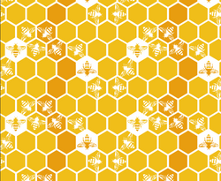 Honey Bees on Honeycomb repeat