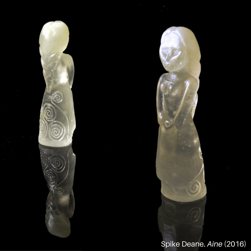 Aine glass sculpture front and back