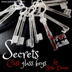 Secrets, cast glass keys (ISG)
