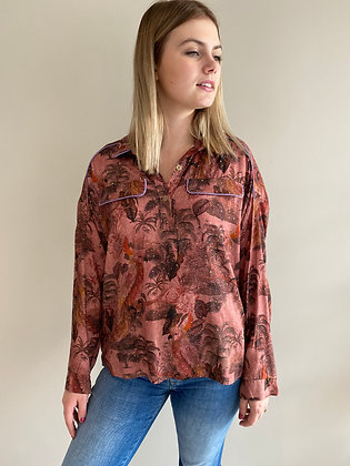Blouse ML winter jungle pink Imprevu