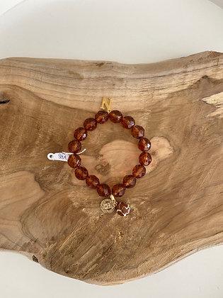 Bracelet perles bordeaux Nala