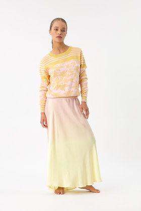 Maxi skirt dégradé yellow Imprevu