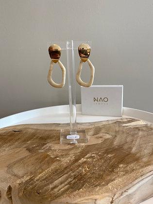 Boucle d'oreille anneaux NAO