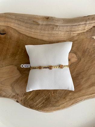 Bracelet pierre beige Zag