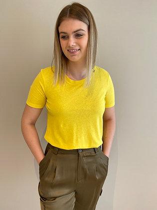 Tshirt jaune Maison Scotch