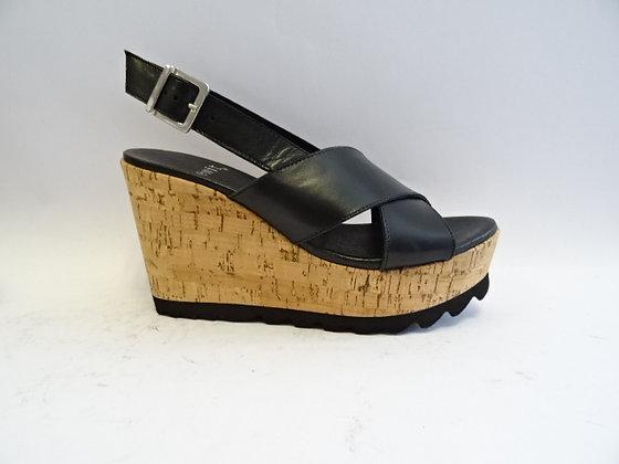 Sandale compensée KEDABIME noir Exit