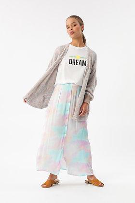 Tshirt boxy dream white Imprevu