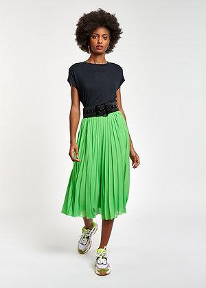 Jupe plissée verte Essentiel