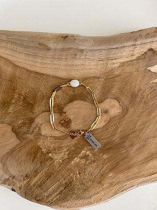 Bracelet chaîne avec pierre Zag