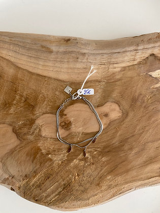 Bracelet double plume Zag
