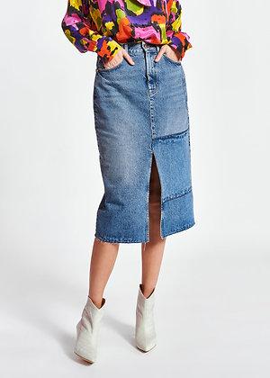 Jupe fourreau ZIMPALA en jeans Essentiel
