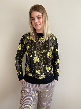 Sweat print fleurs jaune Maison Scotch