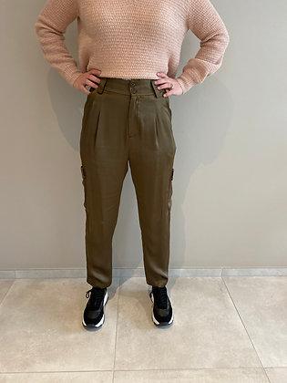 Pantalon fluide kaki avec poches Maison Scotch