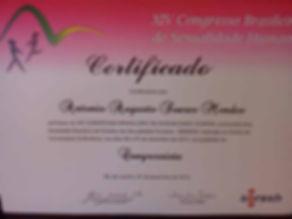 Participação em Congresso de Sexologia